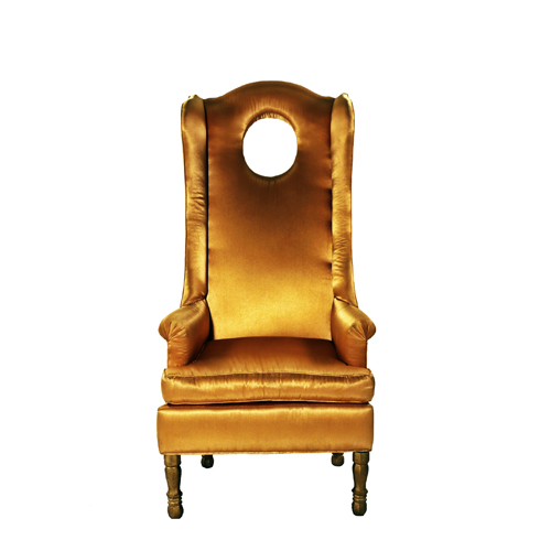 H. Mona I Gold Chair