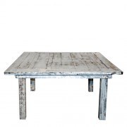 C. White Distress Square Table