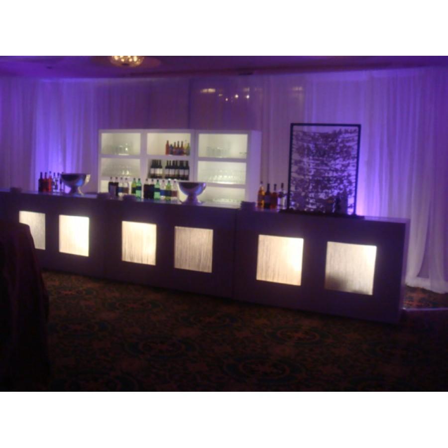 D White Front Lighted Bar