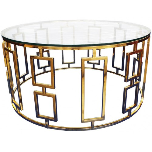 VERTIGO GOLD LOW COCKTAIL TABLE
