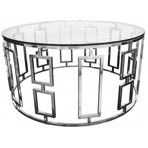 VERTIGO SILVER LOW COCKTAIL TABLE